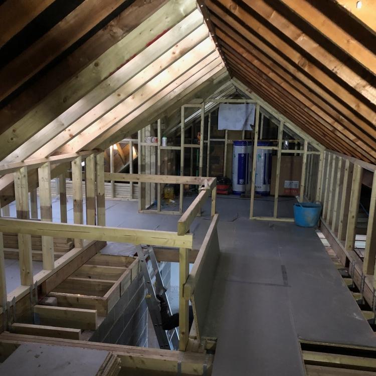 Loft conversion in Egham, Surrey.