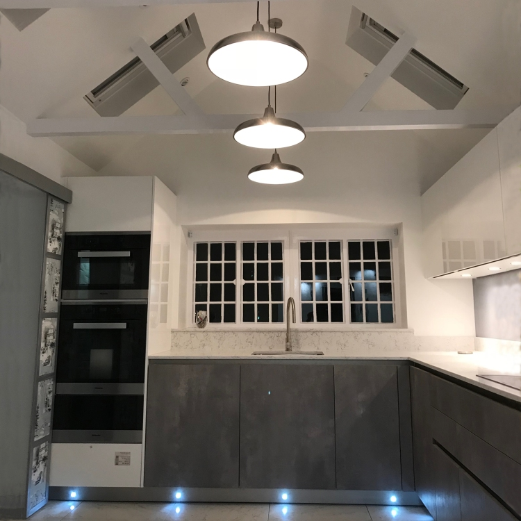 Renovation in Thorpe, Surrey on a Grade 2 listed building. Kitchen re-design.