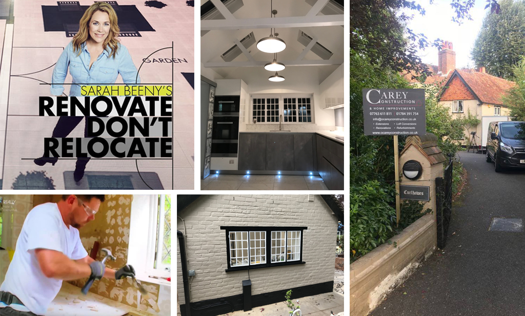 Carey Construction & Home Improvements appeared on Sarah Beeny's Renovate Don't Relocate as the local builders from Egham. They did all of the building work from start to finish.